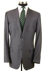 Current  Milaa Gray Nailhead Cashmere Silk 2pc Suit And Pants 46l