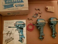 Toy Evinrude Big Twin Outboard Motor - 2 Motors 1 Complete And 1 W/broken Arm
