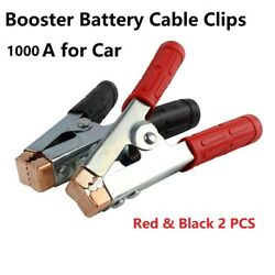 1000 A Battery Alligator Clips Clamps Jumper Cables Boost Insulated Replacement