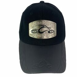 Orange County Choppers Bio Dome Ball Cap Hat Black Stretch Motorcycle Vintage