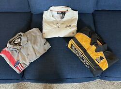 Harley Davidson Motorcycle S S Button Embroidered Shirts Mens Size M Lot of 3