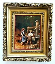 Very Beautiful Oil Painting 19th.c O/p - 12 X 9. Unsigned