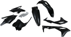 Ufo Black Complete Body Kit For Dirt Bikes And Offroad Kakit225-001