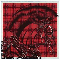 Hermes Scarf Stole Carre 45 Cheval Punk Pochette Silk Vintage Rouge From Japan