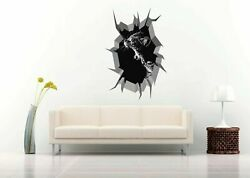 Cat Yawning 3d Crack Hole Wall Decal Removable Vinyl Sticker Mural Art Decor