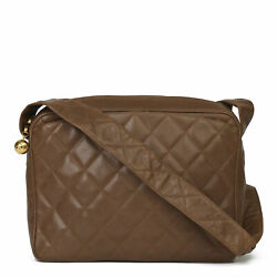 Brown Quilted Caviar Leather Vintage Timeless Camera Bag Hb3921