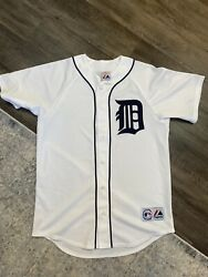 Vintage Detroit Tigers 1990s Majestic White Jersey Men M Made In Usa