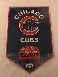 Chicago Cubs Wrigley Field Sign Ad Metal Poster Sealed Man Cave Sports