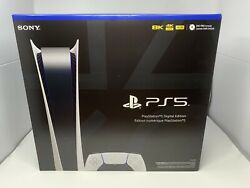 Ps5 Sony Playstation 5 Digital Edition Console New Factory Sealed Free Shipping