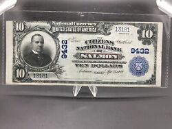 Extremely Rare 1902 10 The Citizens National Bank Of Salmon Idaho 1 Of 17 Known