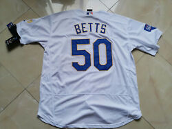 Menand039s Mookie Betts 50 Los Angeles Dodgers Stitched Jersey World Series
