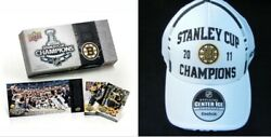 Nhl Boston Bruins 2011 Stanley Cup Champions Hat New Upper Deck Card Box Set Lot
