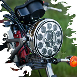 Vawik 7 Led Motorcycle Headlight Chrome High Low Beam 1pce Fits Triumph Buell