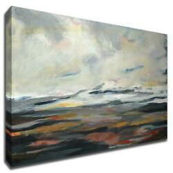 Looking West By Deanna Schuerbeke 47 X 30 Wall Art Print On Canvas Gray