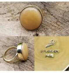 Southwestern Jewelry 14k Gold Opal Ring Signedghassan Adjustable Size7 🥰