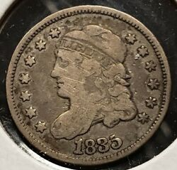 1835 H10c Capped Bust Silver Half Dime - Value Coin - Vg/fine - Sku-t2871