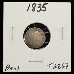 1835 H10c Capped Bust Silver Half Dime - Value Coin - Sku-t2867