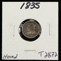 1835 H10c Capped Bust Silver Half Dime - Value Coin - Fine Obverse - Sku-t2872
