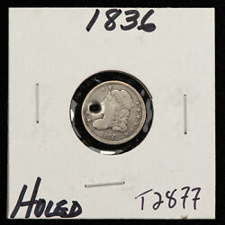 1836 H10c Capped Bust Silver Half Dime - Value Coin - Vg - Sku-t2877