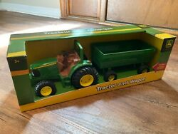 John Deere Ertl   Tomy Tractor And Wagon Die-cast Toy Set New/sealed