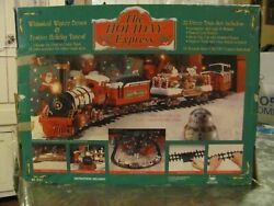 The Holiday Express Christmas Lighted/musical/animated Train Set - Tested,0181w