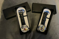 X2 Disney Vintage Mickey Mouse Watches, W001868 And 56109, Brand New