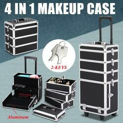 Rolling 4 in 1 Aluminum Makeup Case Beauty Cosmetic Organizer Box Trolley $83.00