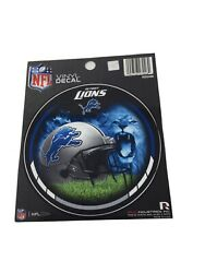 """Lot Of 6 Detroit Lions Nfl Round Vinyl Decal Stickers 4.5"""" New"""