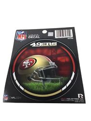 """Lot Of 6 San Francisco 49'ers Nfl Round Vinyl Decal Stickers 4.5"""" New"""