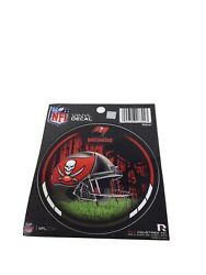 """Lot Of 6 Tampa Bay Buccaneers Nfl Round Decal Vinyl Stickers 4.5"""" New"""