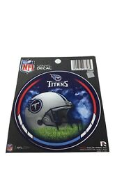 """Lot Of 6 Tennessee Titans Nfl Round Vinyl Decal Stickers 4.5"""" New"""