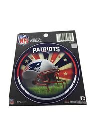 """Lot Of 6 New England Patriots Nfl Round Vinyl Decal Stickers 4.5"""" New"""