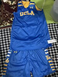 Ucla Authentic Underarmour Reversible Uniform Jersey And Shorts Sz- Small