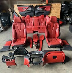 Bmw F06 M6 Red Seats Sport Heated/cool Panel Console Interior Assembly Oem 32k