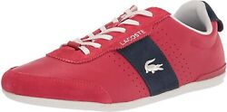 Lacoste Menand039s Sneakers Oreno 40cma0041 Red 29.5cm Japan New