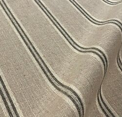 Flaxseed Collingswood Woven French Farmhouse Grainsack Ticking Stripe Fabric