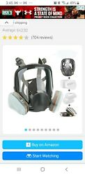 15 In1 Facepiece Full Face Gas Mask Filter Respirator Painting For 6800 Large