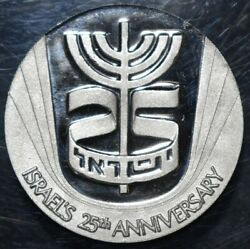 Israel 25th Anniversary State Platinum Medal 1973 Bu Extremely Rare