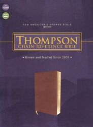 Nasb 1977 Thompson Chain Reference Bible Soft Leather Look Brown Brand New
