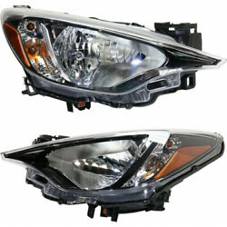 Fits 2016 2017 2018 Toyota Yaris Head Light Assembly Pair Capa Certified