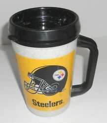 Aladdin 7 Eleven 7-11 Nfl Pittsburgh Steelers Vtg 20oz Insulated Thermos Cup Mug