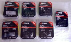 Newlot Of 7 Echo Chain Saw Chainsassorted Sizes2 102 14in16in18in20