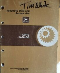 John Deere 4039/4045 Oem And Accessories Parts Catalog Pc2305 May-95