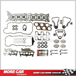 Head Gasket Timing Chain Kit Vvt Solenoid For 04-06 Buick Cadillac Cts Srx 3.6l