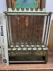 Antique Hoskins 5c Self Service Chewing Gum And Mint Machine Seven Coin Drops