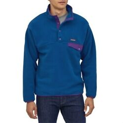 Menand039s Fleece Tops 21-65311 Synchilla Snap-t Pullover Superior Blue