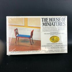 The House Of Miniatures 40078 Duncan Phyfe Window Seat Dollhouse Furniture Kit