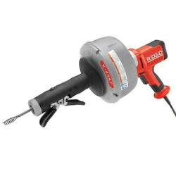 Ridgid Drain Cleaning Machine Power Cable Feed Electrical Outlet Gloves Included