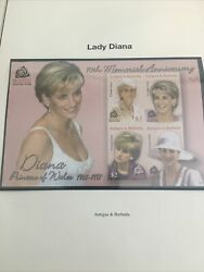 Princess Diana Imperforate Stamp Collection . 45 Pages Of World Wide Celebration