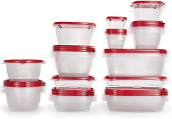 Rubbermaid Takealongs Food Storage Containers 52 Pieces Ruby Red